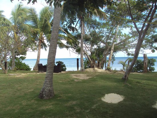 Lomani Island Resort: view from resort