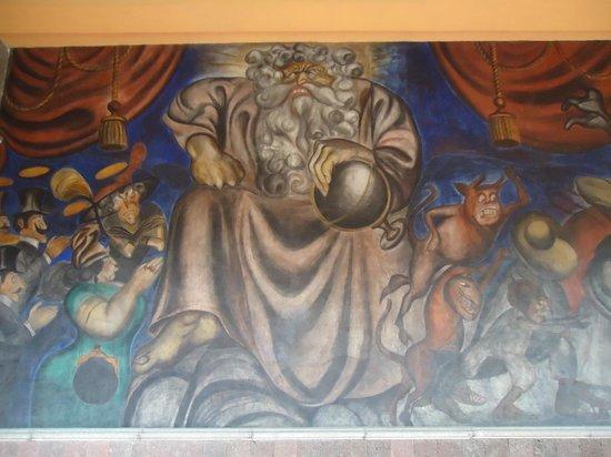 Antiguo Colegio de San Ildefonso: parte de El Juicio Final, de Orozco