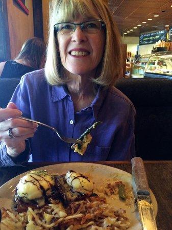 Westside Cafe & Market: The Missus loving her Vege Bene!