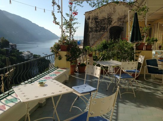 Venus Inn B&B Positano: View from the Terrace where we spent mornings and evenings