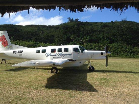 Yasawa Island Resort and Spa: airplane at YIR airstrip