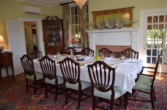 Hornsby House Inn: An elegant presentation for breakfast each morning