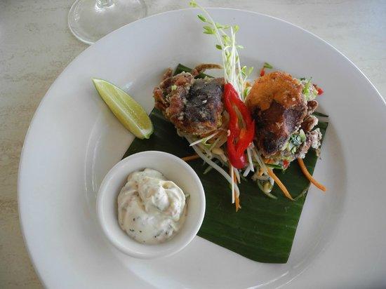 Beach Almond Beach House: Soft-shelled crab