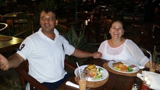 Luhtu's Coffee Shop: Sue and I having Dinner