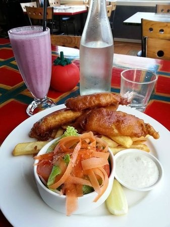 Flatwhite Cafe - Fish and Chips