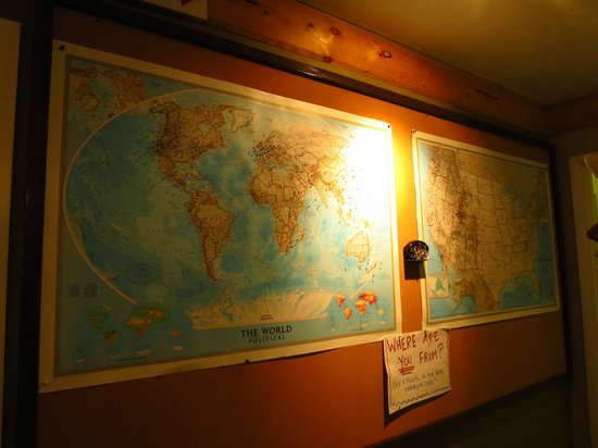The Pines Restaurant: Map they have of where people are from