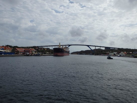 View of Queen Juliana Bridge from the Pontoon Bridge