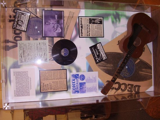 West Tennessee Delta Heritage Center: Wall display in music heritage room