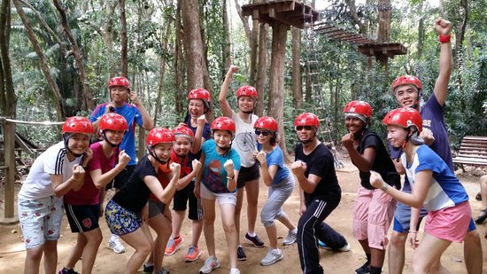Club Med Cherating Beach: Tree Top Challenge