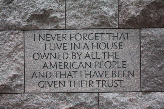 Franklin Delano Roosevelt Memorial: Roosevelt2