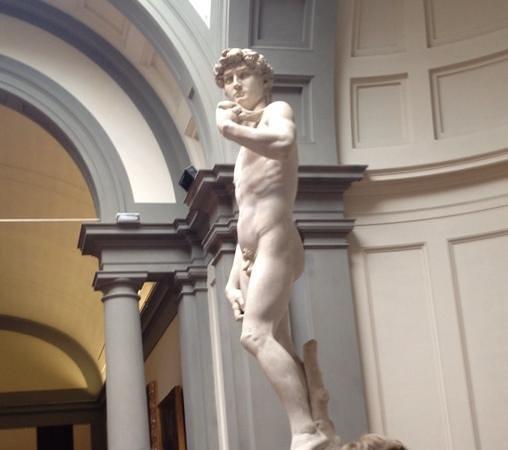 Galleria dell'Accademia : Michelangelo's David in Galleria dell' Accademia