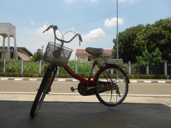 Souannavong Guesthouse: I went round the city with this cute bike. Love it!