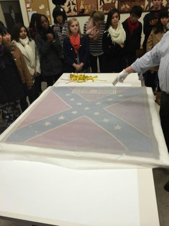 Atlanta History Center: Recovered Confederate Flag
