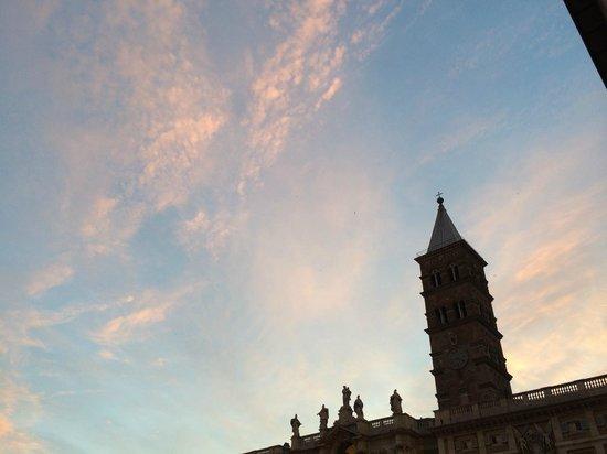 Basilica di Santa Maria Maggiore: 夕焼けが綺麗でした