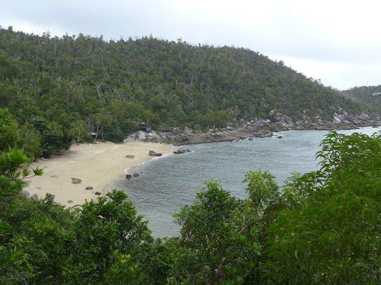 Bedarra Island Resort: View from deck on Oceanview Terrace villa  - overcast but still stunning