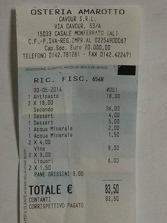 Casale Monferrato, Italia: 36 euro per cervella e frattaglie mal cucinate!