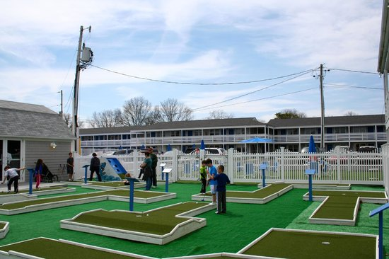 Our new mini golf, free with your Cape Cod Inflatable Park admission