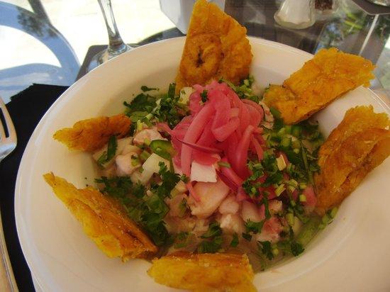 Barcelo San Jose Palacio - Rancho Grill - Ceviche with plantains