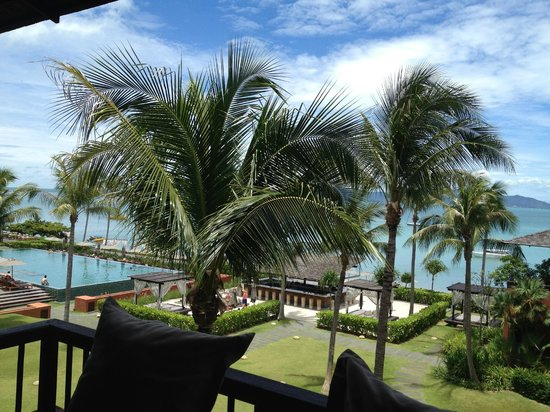 Hansar Samui Resort : View from our balcony.  Absolutely beautiful!