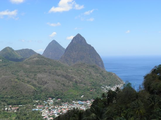 Coconut Bay Beach Resort & Spa: The Pitons (excursion photo)