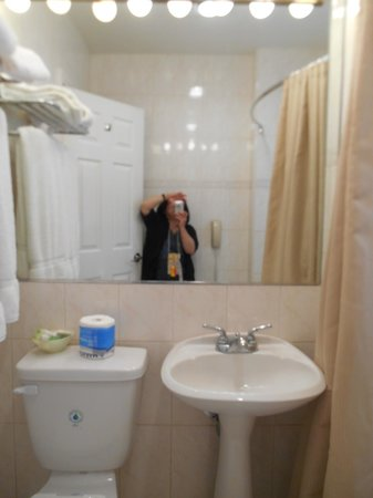 Wilshire Crest Hotel: Bathroom Sink & Toilet
