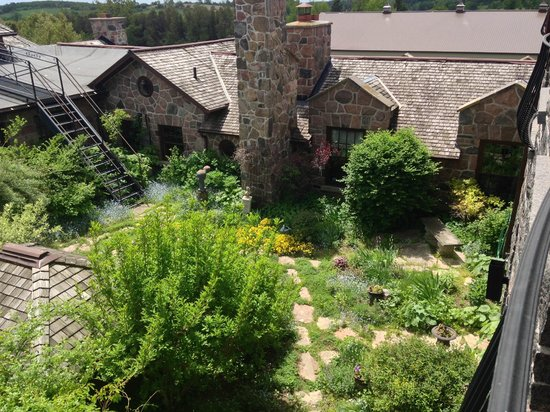 Ste. Anne's Spa: Overlooking the herb garden