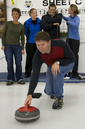 Indoor Curling Rink: Curling is a great activity for all ages.