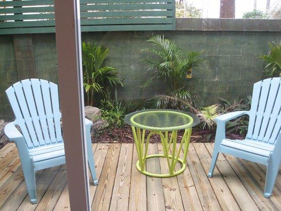 Sea Esta Villas: Master bedroom patio