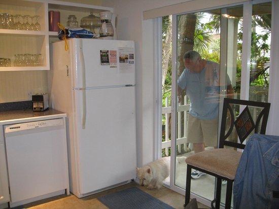 Sea Esta Villas : View of front patio from kitchen