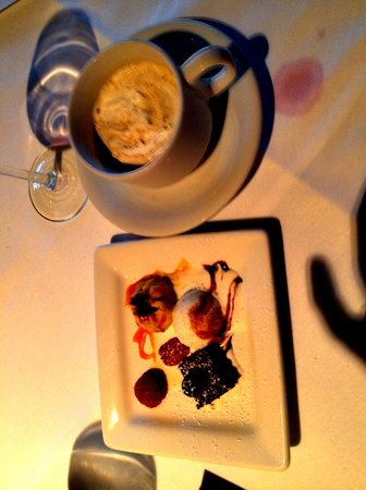 SeaVenture Restaurant: The ending Kiss:  Godiva Liqueur, Baileys, Chambord coffee w/whip