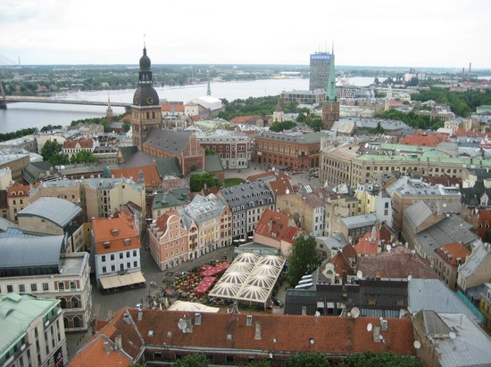 View of Riga from St Peter's Church Tower: вид2