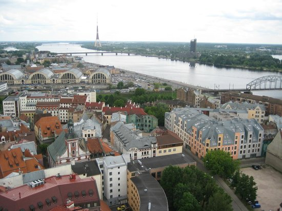 View of Riga from St Peter's Church Tower: вид1