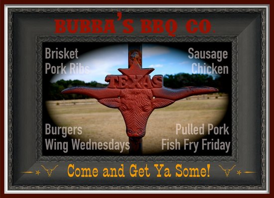 Bubba's BBQ Co.: Take your pick of TEXAS BBQ......YUM!!!