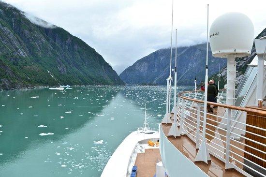 Departing Sawyer Glacier, Tracy Arm Fjord