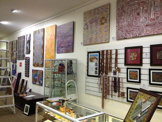 Mbantua Fine Art Gallery: Our walls are filled with Aboriginal Art.