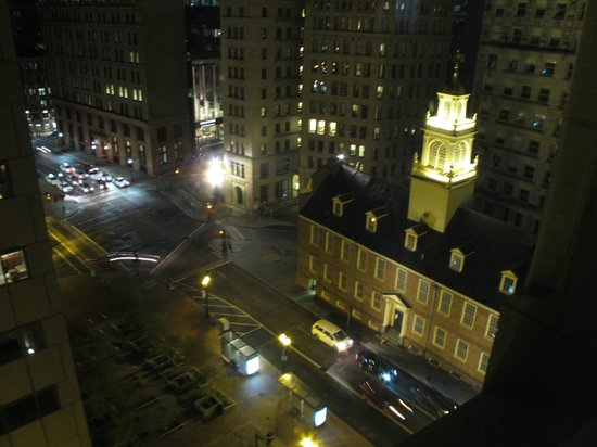 View from our room at Ames Boston Hotel
