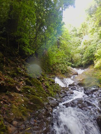 Costa Rica Waterfall Tours: hiking up the water falls