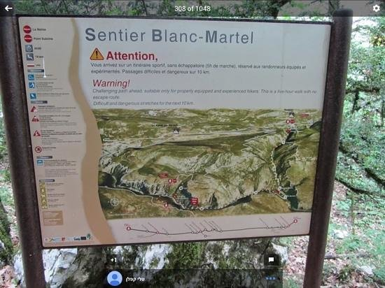 Gorges du Verdon: sentier martel
