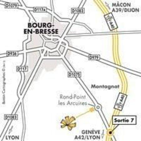 Premiere Classe Bourg En Bresse - Montagnat : Plan d'accès de l'hôtel