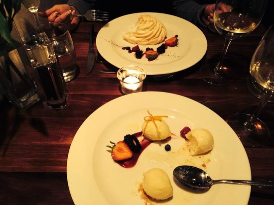 Old Swan & Minster Mill: Scintillating Baked Alaska and home-made ice cream.