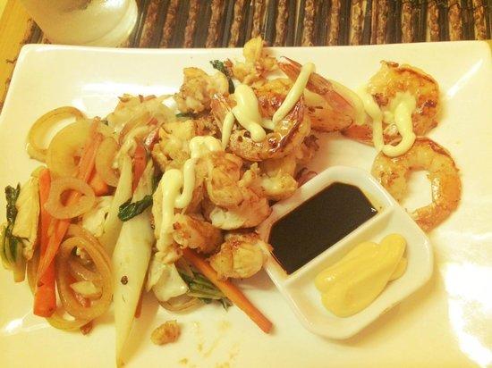 Wild Ginger: Lobster and Tiger Prawns Teppanyaki