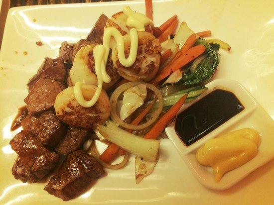 Wild Ginger: Beef and Scallops Teppanyaki
