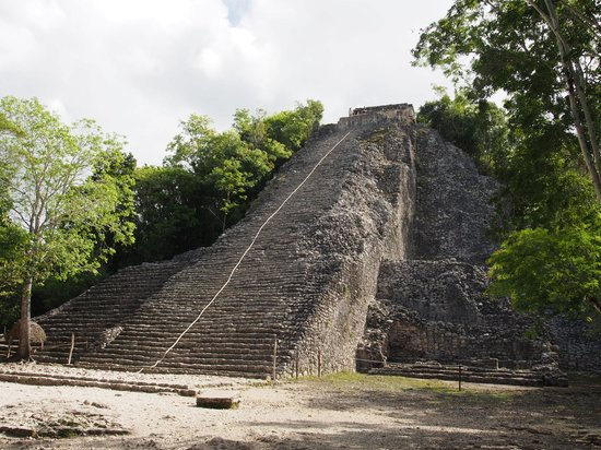 Coba Ruins: The main pyramid...