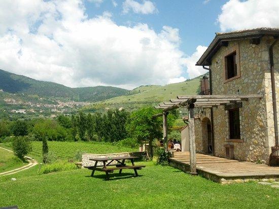 Piglio, Italie : Facciata con sfondo