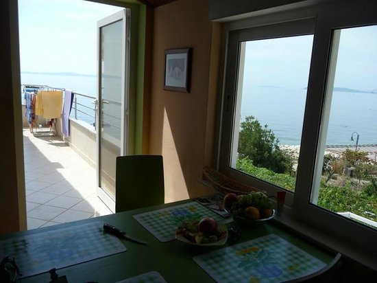 Villa Perisic: view from kitchen
