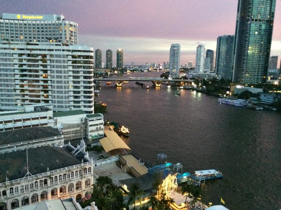 Mandarin Oriental, Bangkok: View from a typical room, overlooking Chao Phraya River