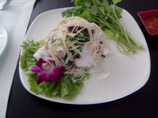 New Rose Boutique Hotel: fresh sliced fish salad with wasabe