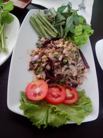 New Rose Boutique Hotel: Fresh sauteed fish Lao Style