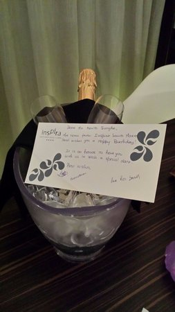 Inspira Santa Marta Hotel: Great little birthday surprise!