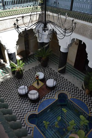 Riad El Mansour: Photo taken from hotel balcony